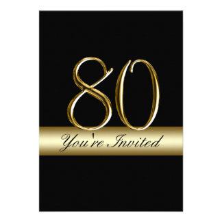 80.as invitaciones del cumpleaños del metal de la  comunicado personalizado