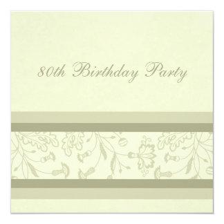 80.as invitaciones florales de la fiesta de invitación