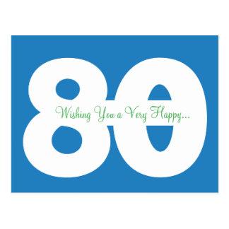 80 as postales felices del jalón del cumpleaños -