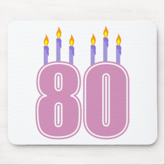 80 Birthday Candles (Pink / Purple) Mouse Pad