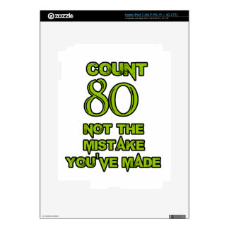 80 Birthday design Decals For iPad 3