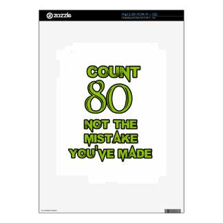 80 Birthday design iPad 2 Skin