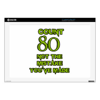 80 Birthday design Laptop Decal