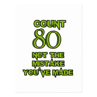 80 Birthday design Postcard