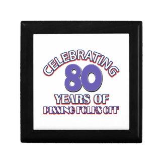 80 birthday Designs Gift Box