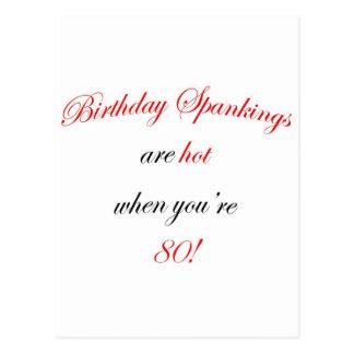 80 Birthday Spanking Postcard