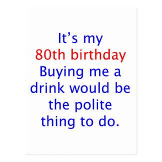 80 buy me a drink postcards