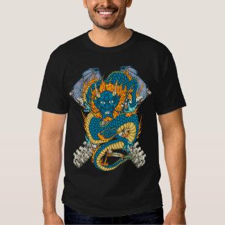 80-Chinese Dragon Tattoo Flash T-shirt