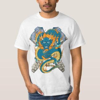 80-Chinese Dragon Tattoo Flash T-shirt - White