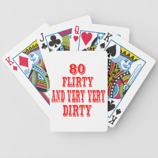 80, coqueto y muy muy sucio cartas de juego