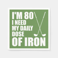 80 Daily Dose Of Iron Golfer Party Napkins