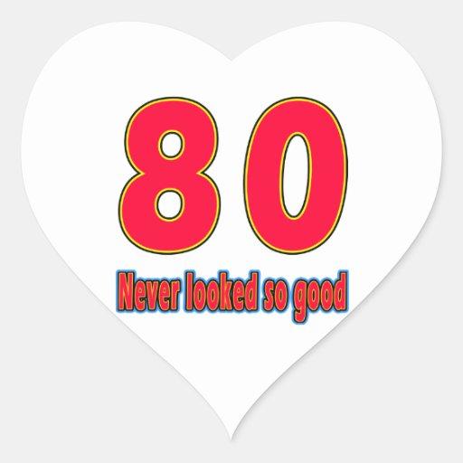 80 diseños tan buenos nunca mirados del cumpleaños pegatina en forma de corazón