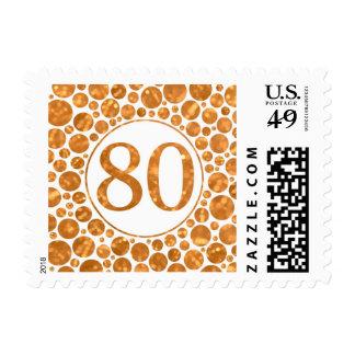 80 en el oro - 80.o sello de la fiesta de cumpleañ