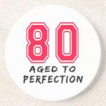80 envejeció al diseño del cumpleaños de la perfec posavaso para bebida