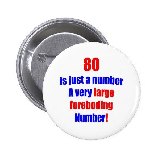 80 es apenas un número pins