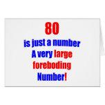 80 es apenas un número tarjetas