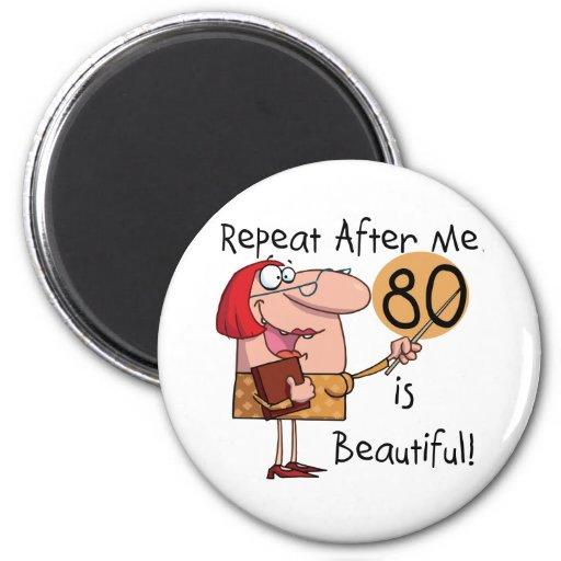 80 es camisetas y regalos hermosos imanes
