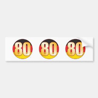 80 GERMANY Gold Bumper Sticker