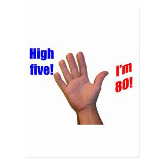 80 High Five Postcard