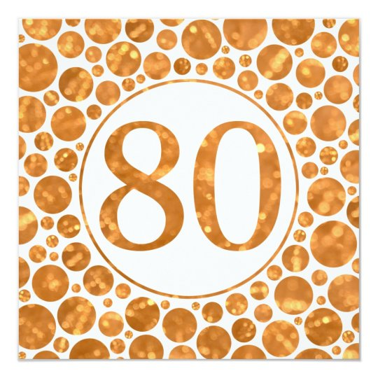 80 In Gold - 80th Birthday Party Invitation
