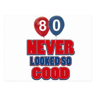 80 looks good postcard
