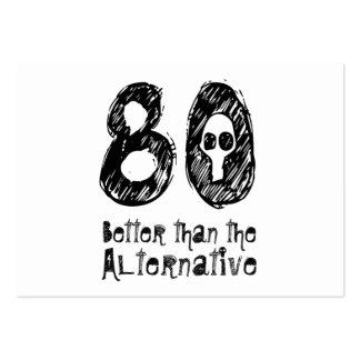80 mejor que el cumpleaños divertido Q80 de la Tarjeta De Visita