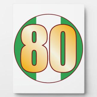 80 NIGERIA Gold Plaque