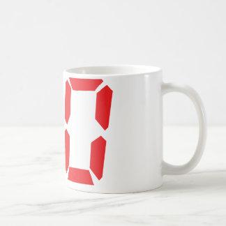 80 número digital del despertador de ochenta rojos taza