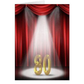 80.o Aniversario de boda Tarjeta De Felicitación