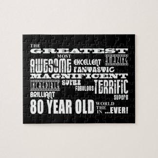 80.o Años más grandes de la fiesta de cumpleaños Puzzle