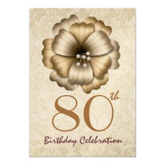 """80.o Arco de la flor del oro de la fiesta de Invitación 5"""" X 7"""""""