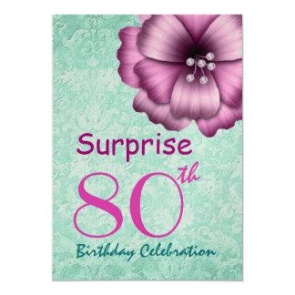 """80.o Arco de la flor del rosa de la fiesta de Invitación 5"""" X 7"""""""