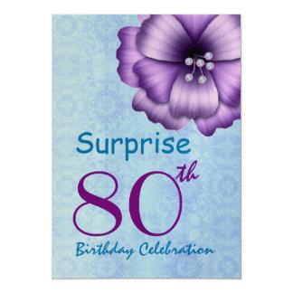 """80.o Arco púrpura de la flor de la fiesta de Invitación 5"""" X 7"""""""