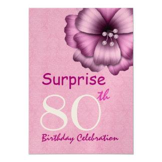 """80.o Arco V2 de la flor del rosa de la fiesta de Invitación 5"""" X 7"""""""