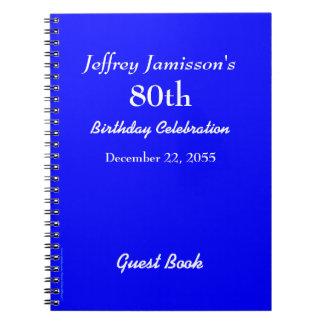 80.o Azul real del libro de visitas de la fiesta Libros De Apuntes Con Espiral