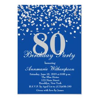 80.o confeti elegante de la plata de la invitación