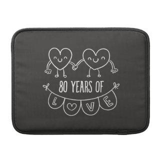80.o Corazones de la tiza del regalo del Funda MacBook