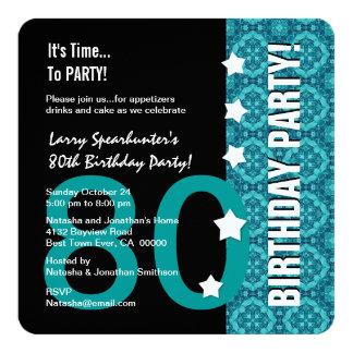 """80.o Cumpleaños divertido NO sobre la colina Z80D Invitación 5.25"""" X 5.25"""""""