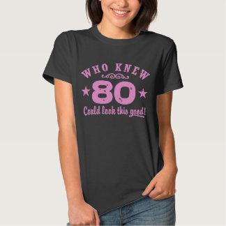 80.o cumpleaños divertido remera