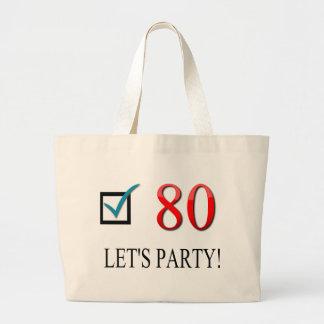 80.o cumpleaños feliz bolsas de mano