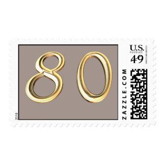 80.o cumpleaños feliz ochenta 80 octogésimos timbres postales