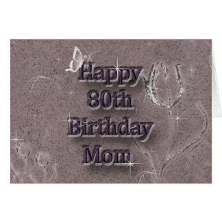 80.o cumpleaños feliz tarjetas