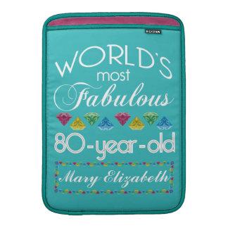 80.o Cumpleaños la mayoría de la turquesa colorida Funda MacBook