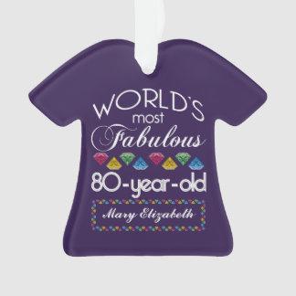 80.o Cumpleaños la mayoría de las gemas coloridas
