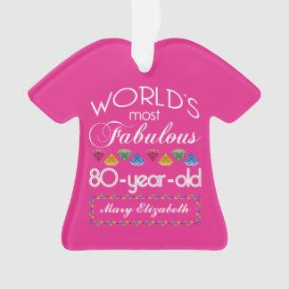 80.o Cumpleaños la mayoría del rosa colorido