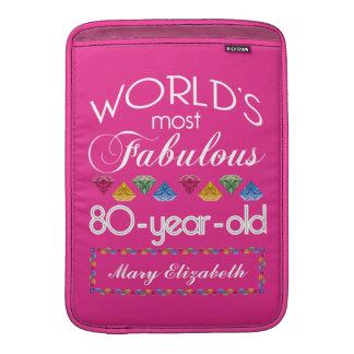 80.o Cumpleaños la mayoría del rosa colorido Funda Macbook Air