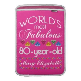 80.o Cumpleaños la mayoría del rosa colorido Fundas Macbook Air