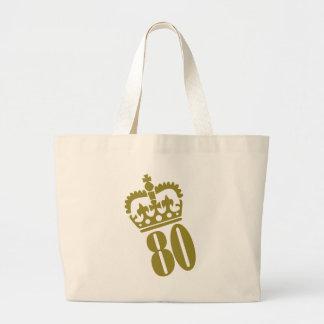 80.o cumpleaños - número - ochenta bolsa