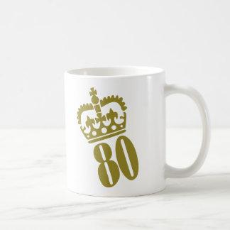 80 o cumpleaños - número - ochenta tazas