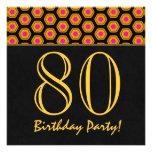 80.o Cumpleaños o cualquier V01 del oro del año y  Invitacion Personalizada